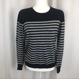 Boden striped cashmere angora blend sweater